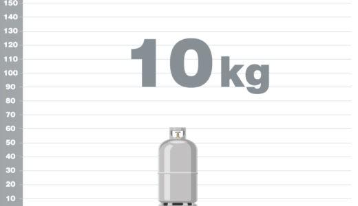 プロパンガス10kgボンベの熱量(カロリー)