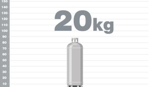 プロパンガス20kgボンベの熱量(カロリー)