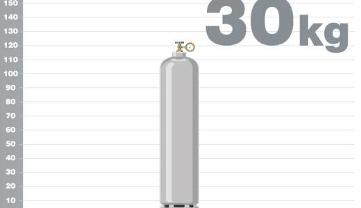 プロパンガス30kgボンベの熱量(カロリー)