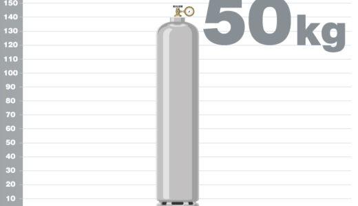 プロパンガス(LPG)50kgボンベの熱量(カロリー)