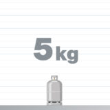 プロパンガスボンベ 2kg 熱量