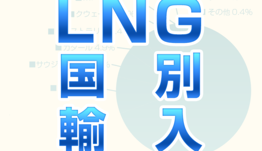 LNG(都市ガス)の輸入【国別】47年分の量や割合