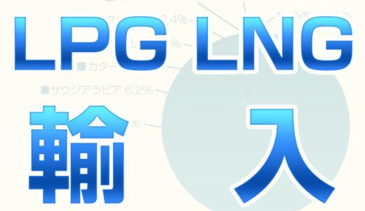 プロパンガス(LPG)と都市ガス(LNG)の輸入量